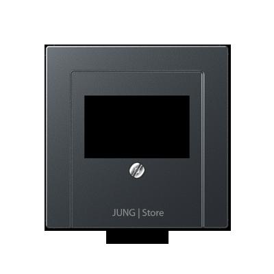 A500 Накладка ТАЕ для аудиорозеток и зарядного устр-ва USB, матовый антрацит