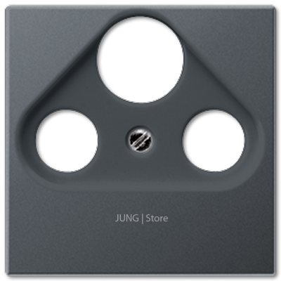 A500 Накладка TV/FM/SAT, матовый антрацит