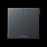 A500 Клавиша 2-ная, матовый антрацит