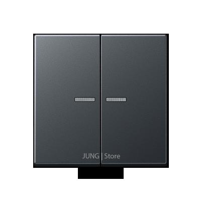 A500 Клавиша 2-ая с подсветкой, матовый антрацит