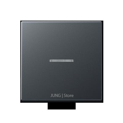 A500 Клавиша 1-ная с окошком, матовый антрацит