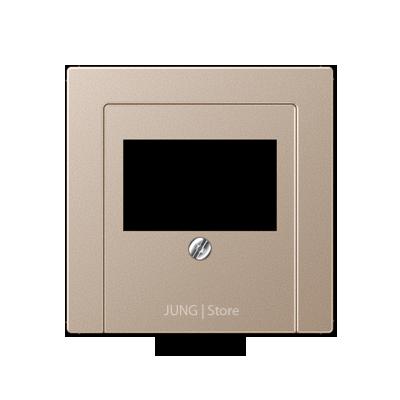 A500 Накладка ТАЕ для аудиорозеток и зарядного устр-ва USB, шампань