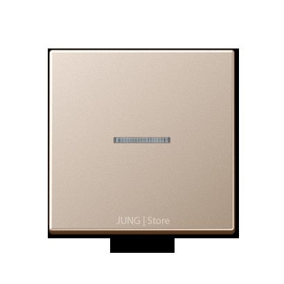 A500 Клавиша 1-ная с линзой, шампань