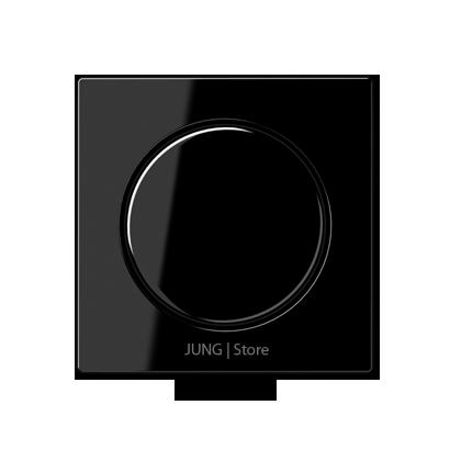 A500 Накладка на мех-зм поворотн. диммера и потенциом., черн.