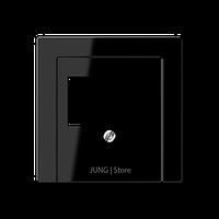 A500 Накладка ТАЕ для аудиорозеток и зарядного устр-ва USB, чёрн.