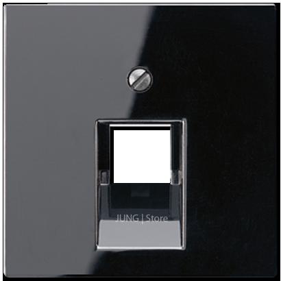 A500 Накладка для комп. розетки 1хRJ45, чёрн.