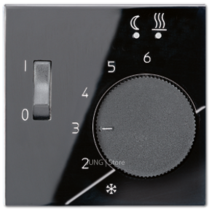 A500 Накладка для мех-зма терморегулятора пола с выкл. FTR 231 U, чёрн.