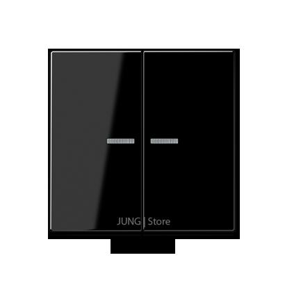 A500 Клавиша 2-ная с двумя линзами, чёрн.