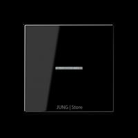 A500 Клавиша 1-ная с линзой, чёрн.
