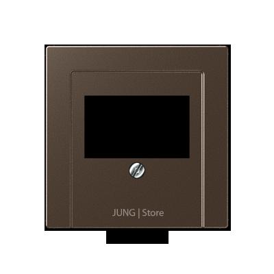 A500 Накладка ТАЕ для аудиорозеток и зарядного устр-ва USB, цвет мокко