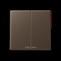 A500 Клавиша 2-ная, цвет мокко
