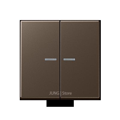 A500 Клавиша 2-ная с двумя линзами, цвет мокко