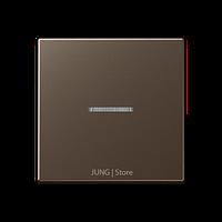 A500 Клавиша 1-ная с линзой, цвет мокко