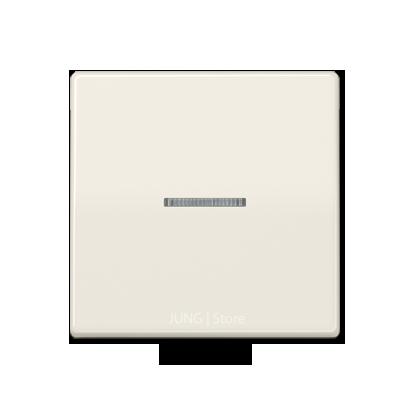 AS500 Клавиша 1-ная с линзой, беж.