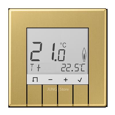 Датчик температуры, комнатный, со стандартным дисплеем. Цвет: латунь