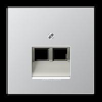 LSmetal Накладка для комп. розетки 2хRJ45, алюм.