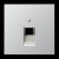 LSmetal Накладка для комп. розетки 1хRJ45, алюм.