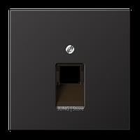 LSmetal Накладка для комп. розетки 1хRJ45, dark (лакир.алюм.)