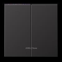 LSmetal Клавиша 2-ная, dark (лакир.алюм.)