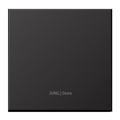 LSmetal Клавиша 1-ная, dark (лакир.алюм.)
