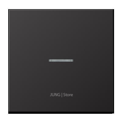 LSmetal Клавиша 1-ная с линзой, dark (лакир.алюм.)