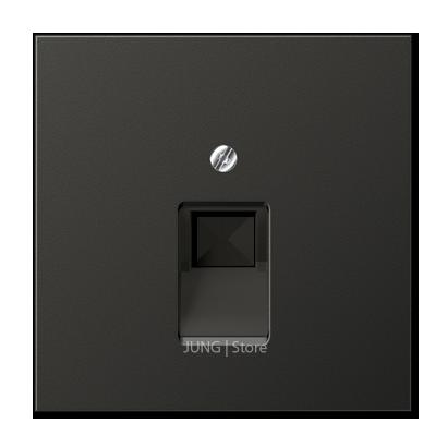 LSmetal Накладка для комп. розетки 1хRJ45, антрацит.
