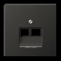 LSmetal Накладка для комп. розетки 2хRJ45, антрацит.