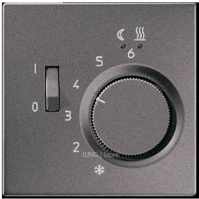 LSmetal Накладка на механизм терморегулятора подогрева пола, антрацит.