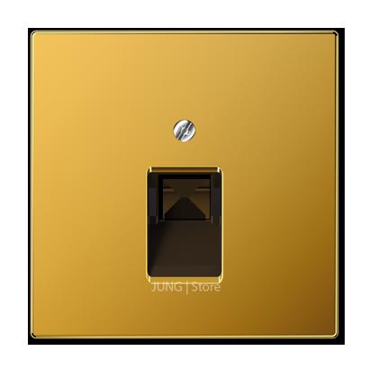 LSmetal Накладка для комп. розетки 1хRJ45, золото 24 кар.