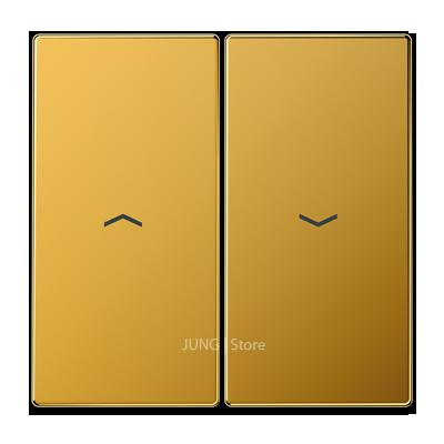 LS995PGGO - Jung LSmetal Клавиша 2-ная со стрелками вверх/вниз, золото 24 кар.