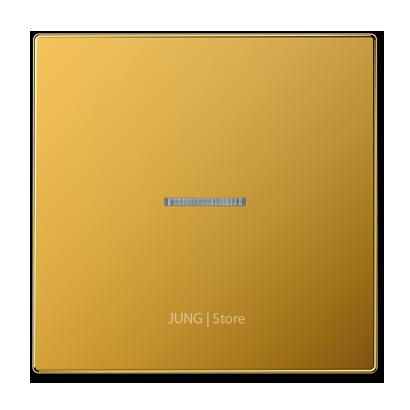 LSmetal Клавиша 1-ная с линзой, золото 24 кар.