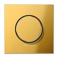 LSmetal Накладка на мех-зм поворотн. диммера и потенциом., золот.