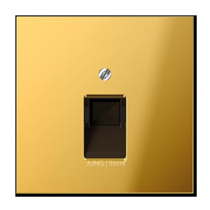 LSmetal Накладка для комп. розетки 1хRJ45, золот.