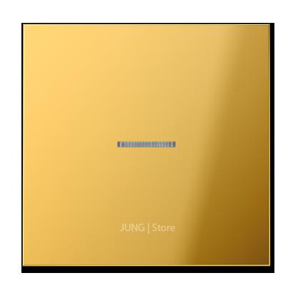 LSmetal Клавиша 1-ная с линзой, золот.