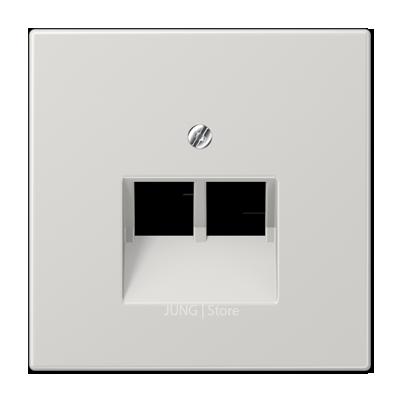 LS990 Накладка для комп./тлф. розетки 2хRJ45, светло-серая