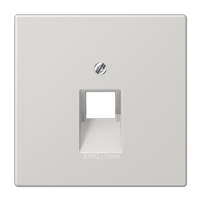 LS990 Накладка для комп./тлф. розетки, 1-ная, светло-сер.