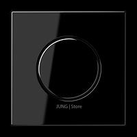 LS990 Накладка на мех-зм поворотн. диммера и потенциом., черн.
