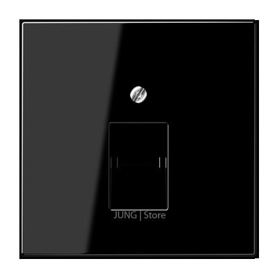 LS990 Накладка для комп./тлф. розетки, 1-ная, чёрн.