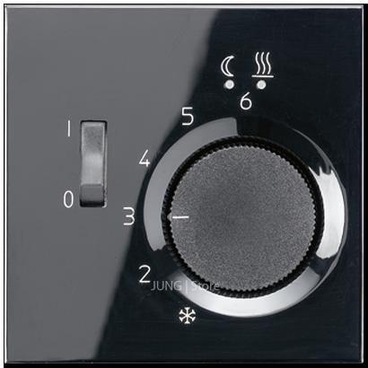 LS990 Накладка для мех-зма терморегулятора пола с выкл. FTR 231 U, чёрн.