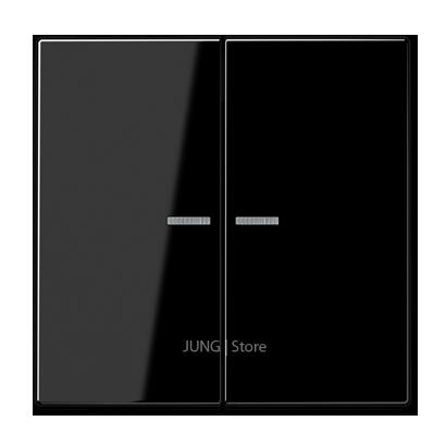 LS990 Клавиша 2-ная с 2-мя линзами, чёрн.