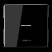 LS990 Клавиша 1-ная с линзой, чёрн.