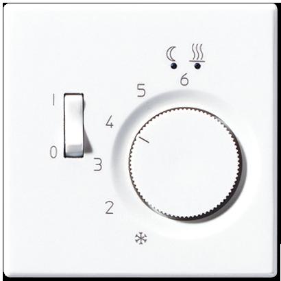 LS990 Накладка для мех-зма терморегулятора пола с выкл. FTR 231 U, бел.