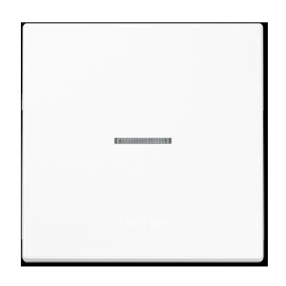 LS990 Клавиша 1-ная с линзой, бел.
