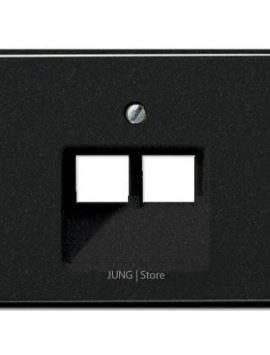 SL500 Накладка для комп. розетки 2хRJ45, чёрн.