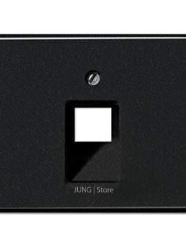 SL500 Накладка для комп. розетки 1хRJ45, чёрн.