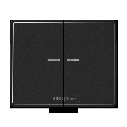 SL500 Клавиша 2-ная с 2-мя линзами, чёрн.