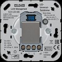 Механизм светорегулятора универсального клавишного, с двух мест, 20-420 Вт/ВА, для диммируемых диодных ламп