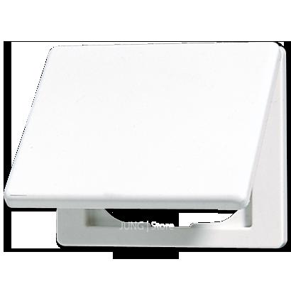 SL500 Накладка с крышкой для розеток 50х50, бел.