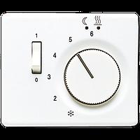 SL500 Накладка для мех-зма терморегулятора пола с выкл. FTR 231 U, бел.