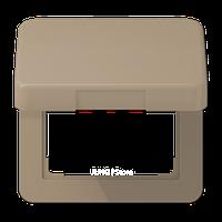 CD500 Накладка с крышкой для розетки 50х50, бронз.